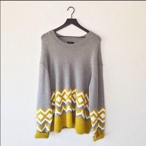 ▪️J. Crew▪️Crewneck sweater in geometric Fair Isle